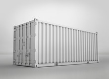 White Shipping Container, 3D R...