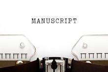 Word Manuscript Typed On Vinta...