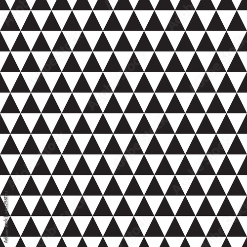 obraz lub plakat black and white seamless pattern with triangle