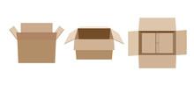 Open Empty Cardboard Box For P...