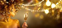 Beauty Glamour Golden Christma...