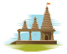Traditional Religious Hindu Temple