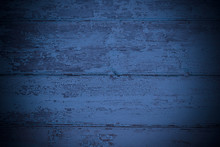 Old Painted Blue Wooden Boards...