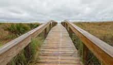 Boardwalk To Jacksonville Beach, Florida, USA.