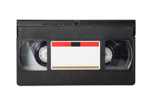 VHS Video Tape Isolated On Whi...
