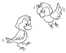 Niedliche Vögel - Vektor-Illustration