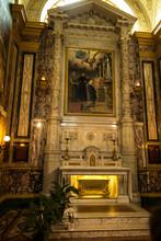 Turin, Italy, 27 June 2019: Interior Of The Sanctuary Of Mary Help Of Christians Of The Faithful In Turin - Relikwie świętego Dominika Savio