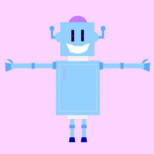 The Robot In Layers For Rigging And Animation