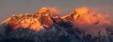 Mount Everest And Lhotse Eveni...