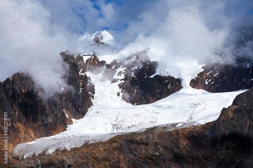 Glacial mountain view from Choquequirao trekking trail Canvas-taulu