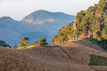 Scenic Landscape View With Camping Ground At Doi Samer Dao In Nan, Thailand