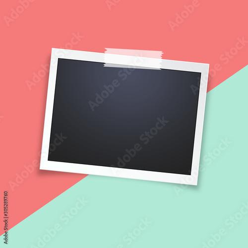 Obraz Realistic vector photo frame - fototapety do salonu