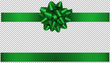 Green Bow And Ribbon Illustrat...
