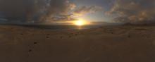 Correlejo Fuerteventura Sand Dunes Panoramic At Sunrise