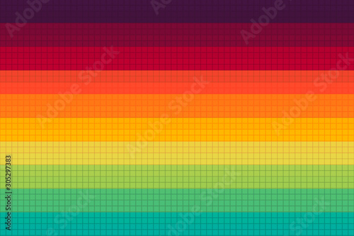 Abstract colorful background with straight lines - 305297383