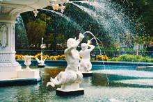 Forsyth Park, Forsyth Park Fountain, Savannah, Historic District, Victorian District, Historic Savannah, Georgia,