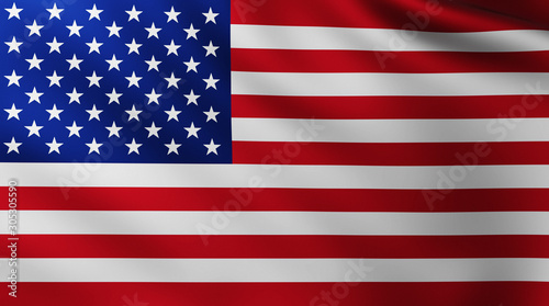 Photo Large American Flag background in the wind