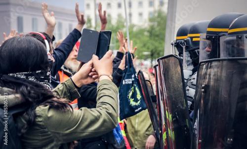 Valokuva  manifestation dans la rue
