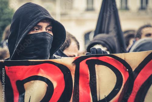 manifestation dans la rue Canvas-taulu