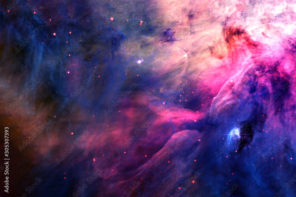 Fototapeta Beautiful, bright, distant galaxy. Background texture. Elements of this image furnished by NASA