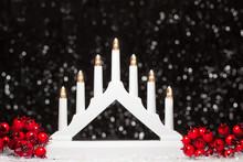 Christmas White Candle Lights ...