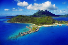 Aerial View Of Bora Bora With ...