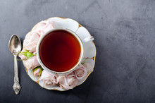 Tea Time Backdrop. Top-down St...