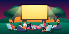 Outdoor Evening Cinema In Summ...