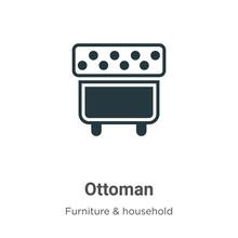 Ottoman Vector Icon On White B...