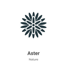 Aster Vector Icon On White Bac...