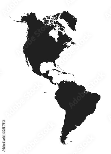 Fototapeta map of north and south america