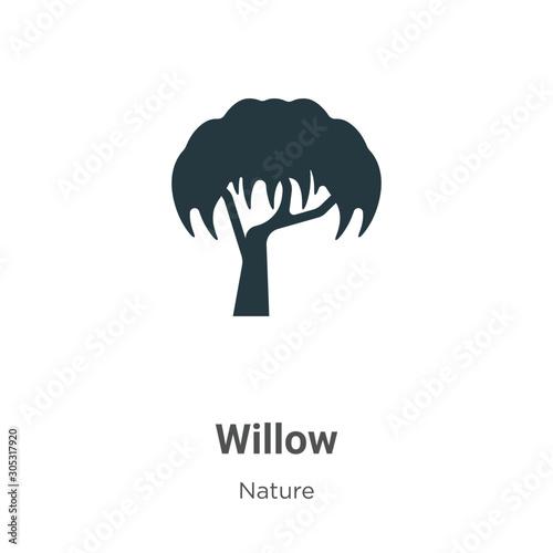 Obraz na płótnie Willow vector icon on white background