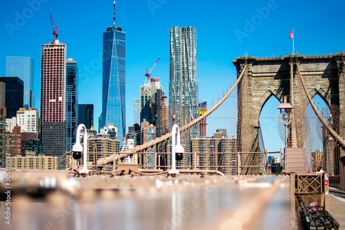 Photo New York City from Brooklyn Bridge
