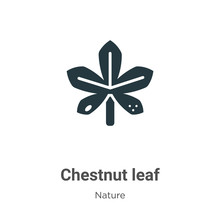 Chestnut Leaf Vector Icon On White Background. Flat Vector Chestnut Leaf Icon Symbol Sign From Modern Nature Collection For Mobile Concept And Web Apps Design.