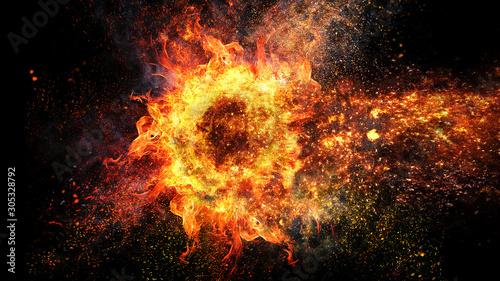 燃え上がる火の輪 Canvas-taulu
