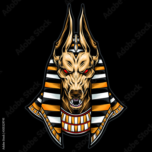 Photo anubis vector logo and illustration