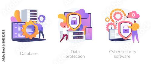Cuadros en Lienzo Data protection metaphors set
