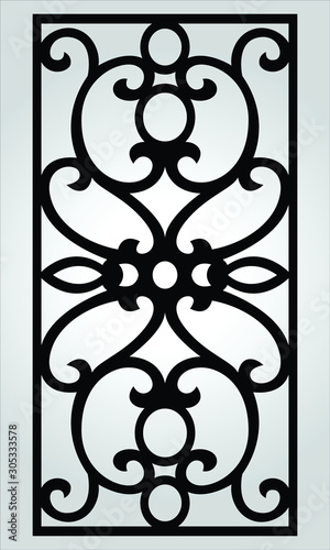 Photo vector carved window and interior patterns