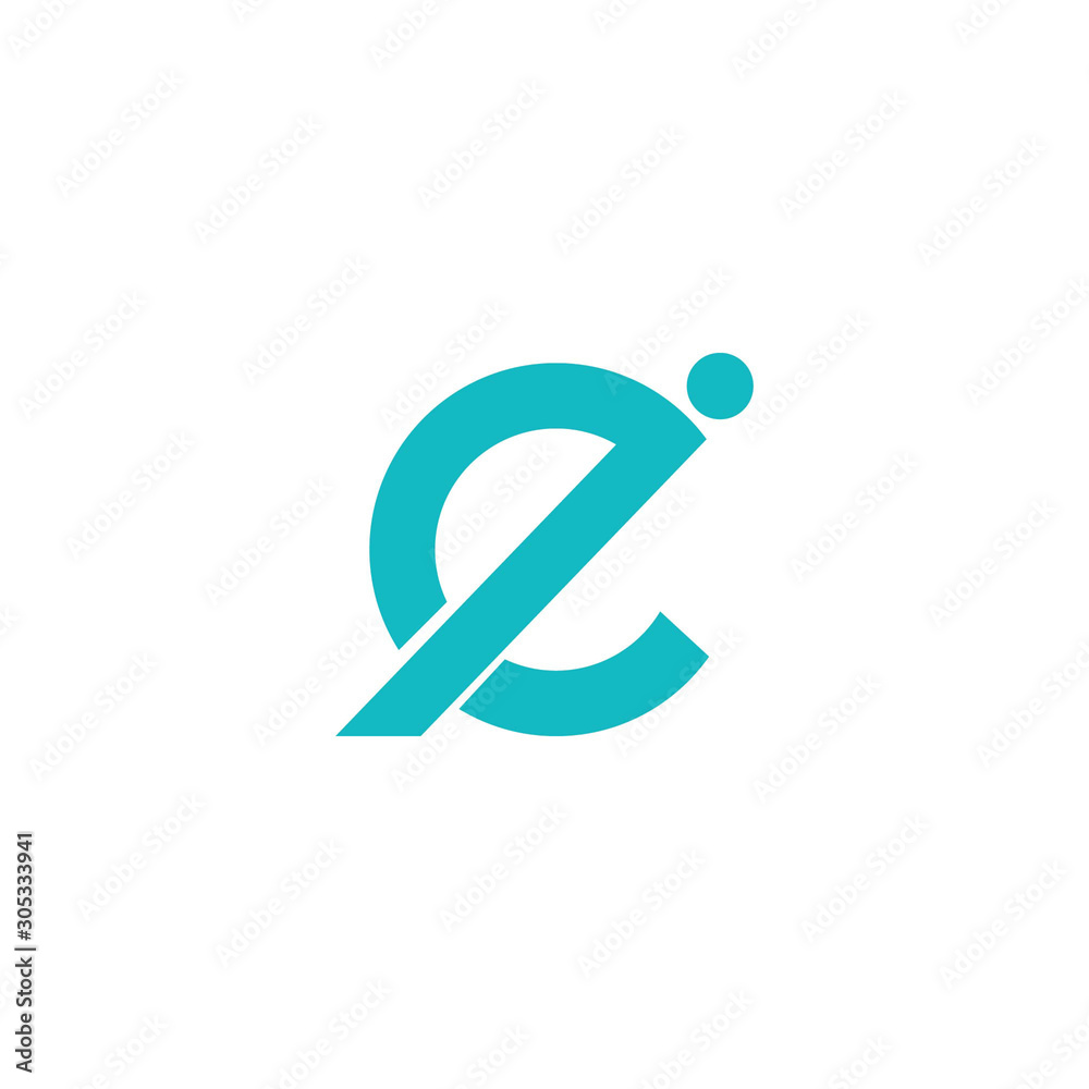 Initial letter ei or ie logo vector design template