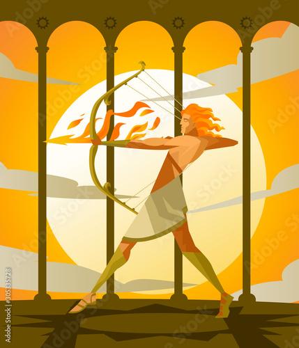 apollo archer god of sun Canvas Print