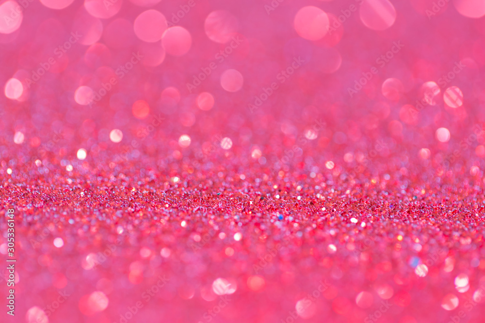 Abstract elegant pink purple glitter vintage sparkle with bokeh defocused