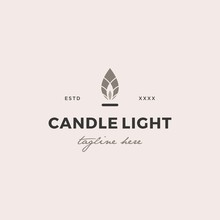 Simple Candle Light  Logo Desi...
