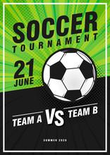 Soccer Tournament Retro Pop Ar...