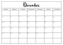 Year 2020 December Planner, Mo...