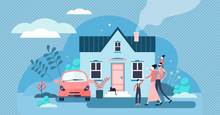 Family House Vector Illustrati...