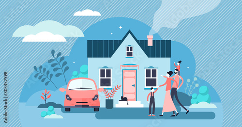 Fotografering Family house vector illustration
