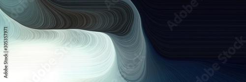 smooth swirl waves background illustration with very dark blue, light gray and light slate gray color