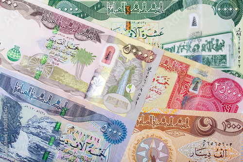 Iraqi money - Dinar a business background Wallpaper Mural