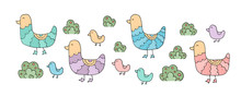 The Drawing - Funny Ducks And Hand Drawn Elements.