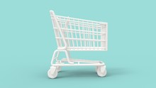 3d Rendering Of A Shopping Car...